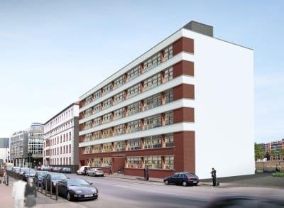 Westhafenkontor: Büroneubau im Passivhausstandard