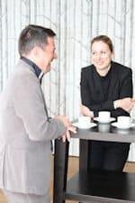 Harold Neubrand und Dr. Christine Lemaitre im Gespräch