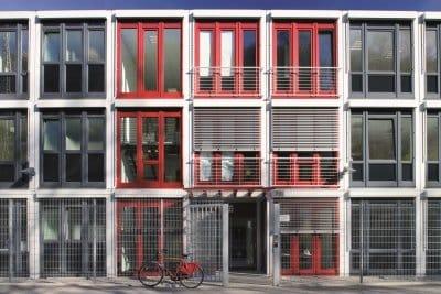Bayer Pharma, Alho, Raummodul, Bürogebäude, modulares bauen