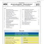 AGI B 13, AGI Arbeitsblatt B 13, Sicherheit Industriedächer