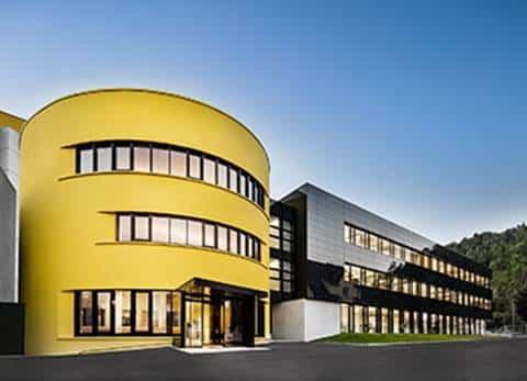 Außenansicht Sto Empfangs- und Bürogebäude