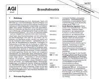 Arbeitsgemeinschaft Industriebau, AGI, Arbeitsblatt, Z13, Technische Informationen aus der Baupraxis, TIB, Brandfallmatrix, Brandschutz