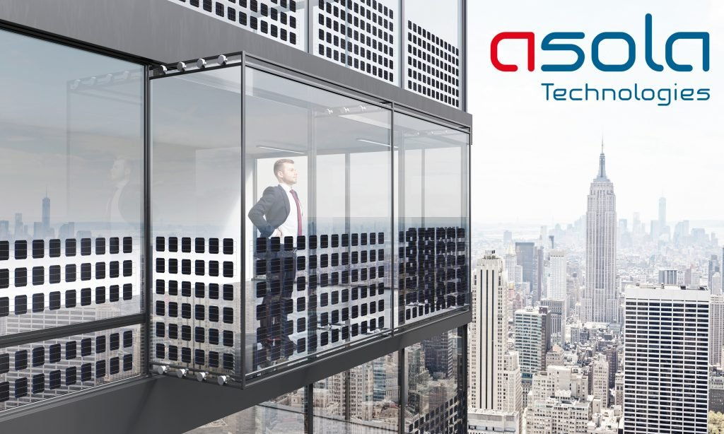 Thoughtful businessman looking into the distance from empty balcony interior on New York city background. 3D Rendering