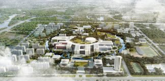 Rendering der privaten Westlake University in China