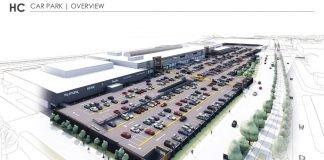 Visualisierung des neuen Parkdecks für das Hessen-Center
