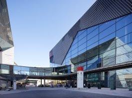 Außenansicht der Messehalle 12. Bild: Jean-Luc Valentin/Messe Frankfurt