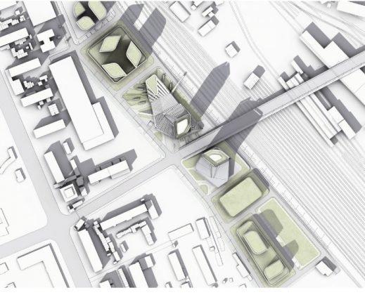 Sicht von oben auf den umstrukturierten Stadtteil in Tiflis. Bild: Graft