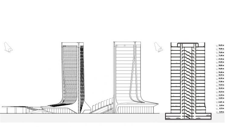 Der Plan zum Architekturwettbewerb für den Stadtteil Didube Chughureti, Tiflis. Bild: Graft
