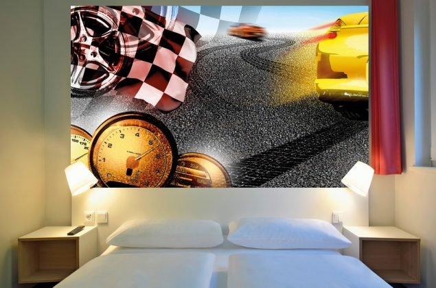 Inneneinrichtung eines Zimmers im B&B-Hotel Stuttgart. Bild: T. Schneider/Barlo Fotografik