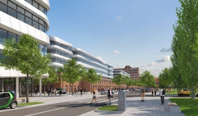 Visualisierung der künftigen Siemensstadt 2.0. Bild: Siemens AG, München/Berlin