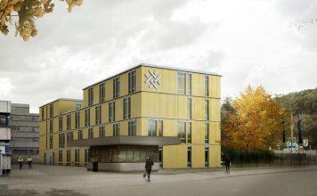Rendering des neuen Aus- und Weiterbildungszentrums. Bild: Netze BW