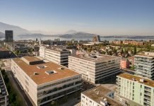 Der Siemens Campus Zug mit dem neuen Gebäuden für Büros und Produktion. Bild: F. Lotter/Siemens AG