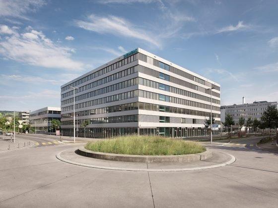 Das neue Bürogebäude am Standort Zug. Bild: Siemens AG