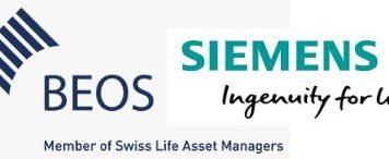 Die Logos von Siemens und Beos