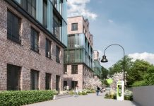 Rendering der Magistrale der Eastside Factory Lofts. Bild: Oliv Architekten