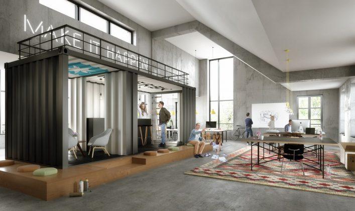 Rendering der Büro-Lofts aus der Feder von Oliv-Architekten. Bild: Oliv Architekten
