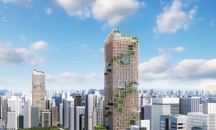 Visualisierung des W350 in Tokyo. Bild: Sumitomo Forestry