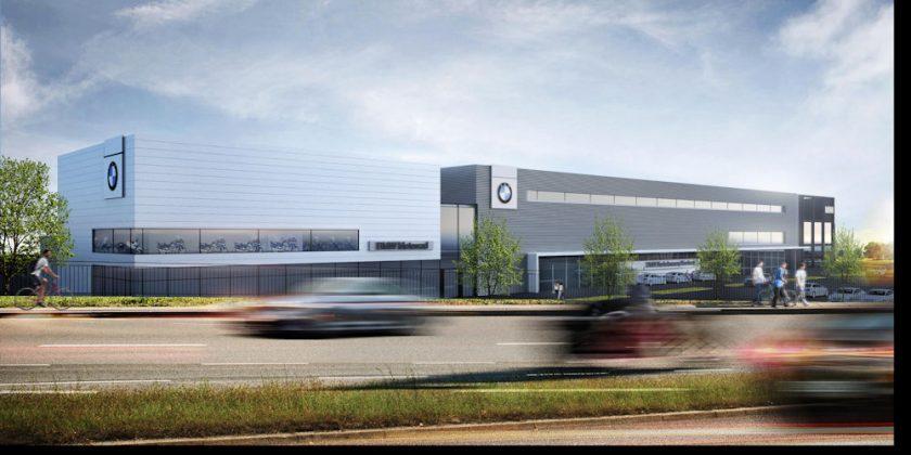 Links befinden sich die Motorräder, mittig die BMW-Autos und rechts die Mini-Markenwelt. Bild: BMW AG