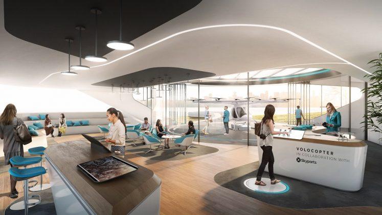 Das Interior Design soll der Skepsis gegenüber der Luft-Mobilität entgegenwirken. Bild: Brandlab