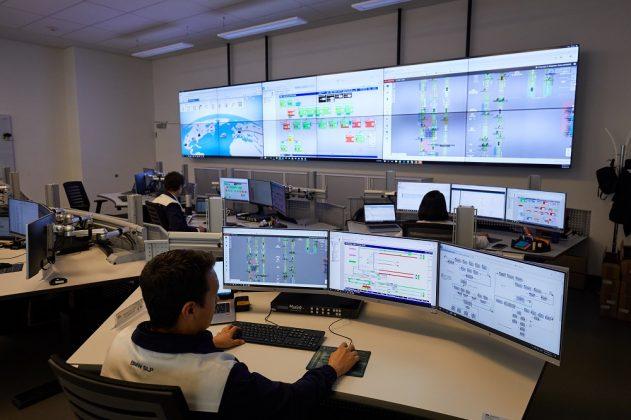 Der Production Control Room des Werks. Bild: BMW