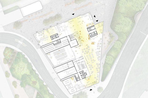 Grundriss des neuen Headquarters. Bild: HENN