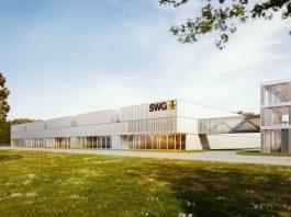 Rendering der Produktionshalle von SWG in Waldenburg. Bild: HK Architekten
