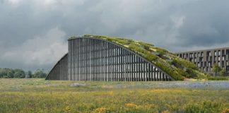 Rendering des Innovationsbogens Augsburg. Bild: Hadi Teherani Architects