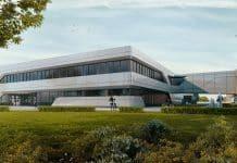 Rendering des Besucherzentrums Siemens. Bild: aib GmbH/macina
