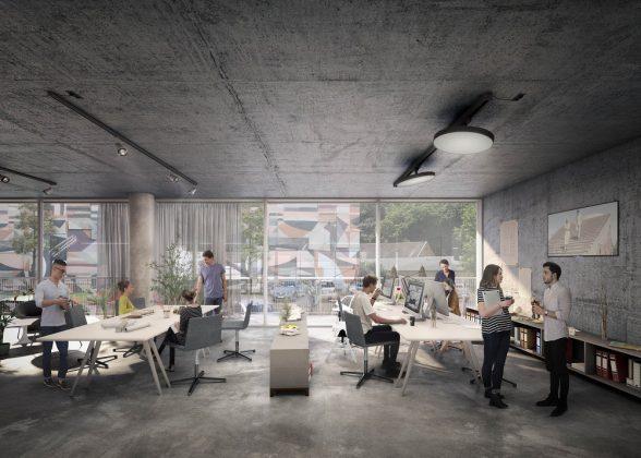 Wände, Decken und Fußböden geben einen Rahmen aus Sichtbeton vor. Bild: Euroboden/ Formes Massie Studios
