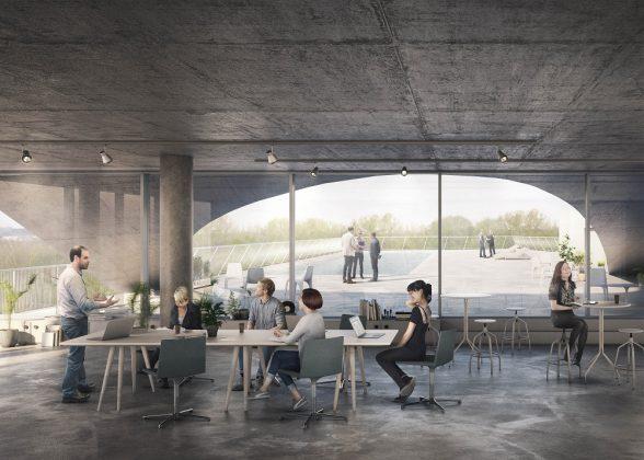 Der Konferenzraum wird sich auf der sechsten Etage befinden. Euroboden/ Formes Massie Studios