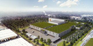 Rendering der LogisticCity. Bild: Architekt Wenzel
