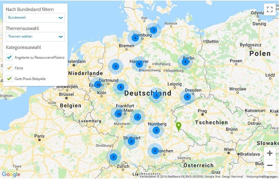 Vdi Interaktive Karte Fur Nachhaltigkeit In Deutschland