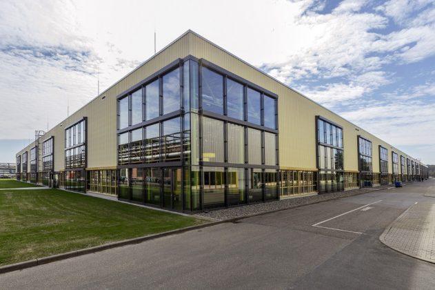 Über-Eck-Ansicht auf das Innovationszentrum. Bild: Freyler
