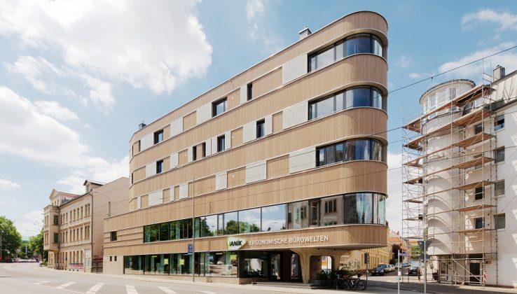 Das Baugemeinschaft Z8 – Holzhaus in Leipzig-Lindenau. Bild: P. Eichler