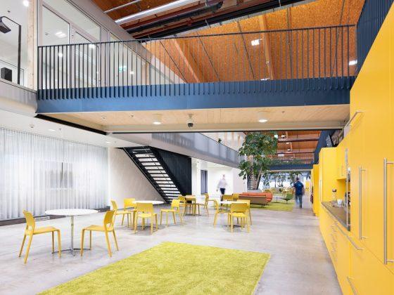 Im Erdgeschoss befinden sich Büros und kommunikative Zonen. Bild: ATP/C. Pierer