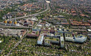 Auf dem Gelände einer alten Tabakfabrik in Berlin entsteht das Projekt GoWest. Bild: Christoph Kohl Architekten und Stadtplaner