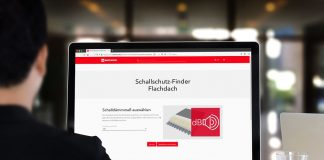 """Der """"Schallschutz-Finder Flachdach"""" ermöglicht einen Überblick, welche Schalldämmwerte mit welchem Aufbau erzielt werden. Bild: Deutsche Rockwool GmbH & Co. KG"""