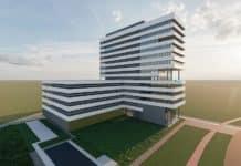 Rendering des künftigen EDC im Wetenschap Park Gent. Bild: Takenaka