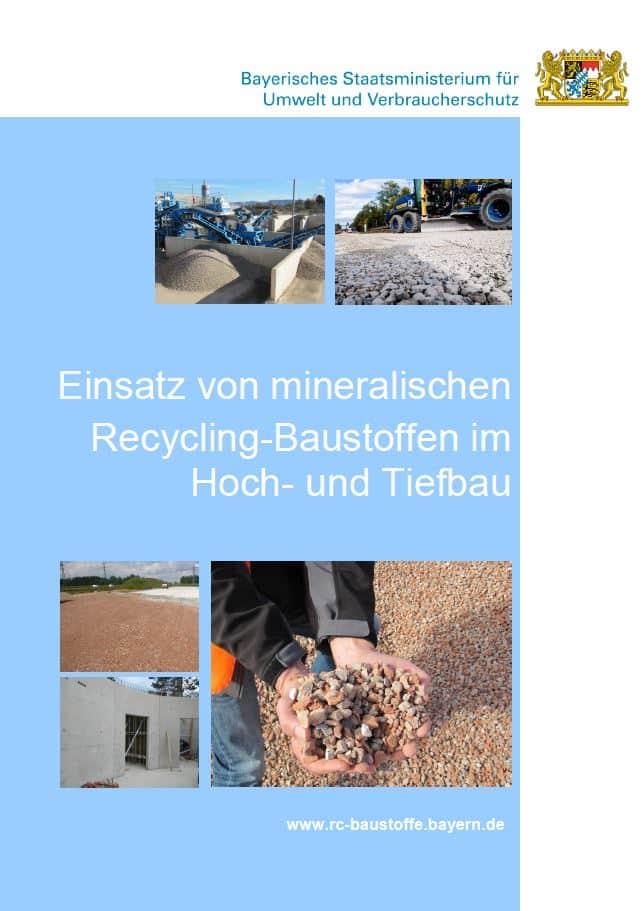 Leitfaden Einsatz von mineralischen Recycling-Baustoffen im Hoch- und Tiefbau