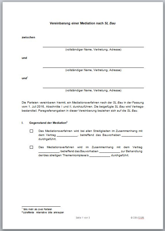 Streitlösungsordnung für das Bauwesen (SL Bau)
